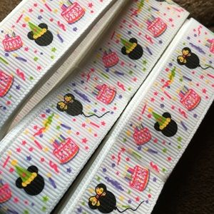 """Grosgrain Ribbon 7/8"""" 5 yards 5/$20 Mickey Mouse"""